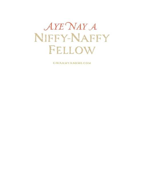 Digital Art - Niffy-naffy Fellow by 18th Century Slang