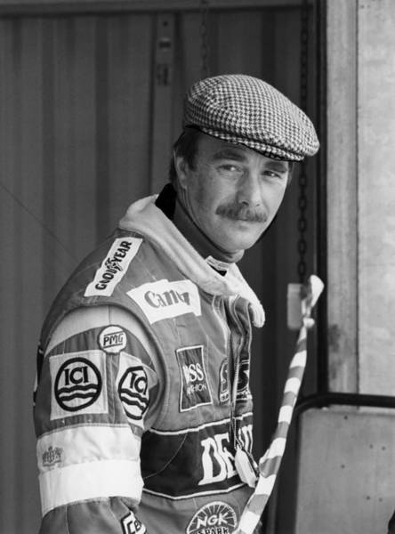 Headwear Photograph - Nigel Mansell, C1985-c1992 by Heritage Images