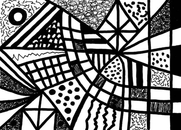 Drawing - Night And Day 13 by Susan Schanerman