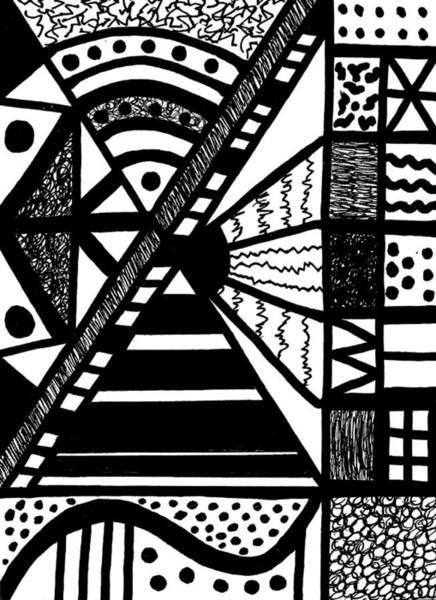 Drawing - Night And Day 19 by Susan Schanerman