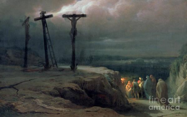Druid Wall Art - Painting - Night At Golgotha, 1869 by Vasili Vasilievich Vereshchagin