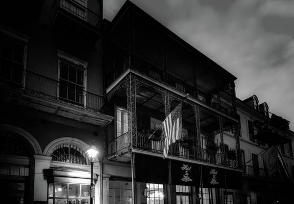 Wall Art - Photograph - Night At Hotel St Helene In Black And White by Chrystal Mimbs
