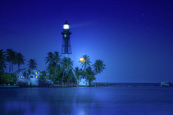 Wall Art - Photograph - Night At Moonlight Cove by Mark Andrew Thomas
