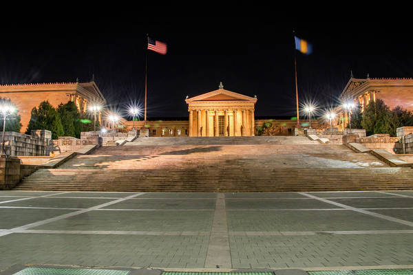 Wall Art - Photograph - Night At The Museum - Philadelphia Art Museum by Bill Cannon