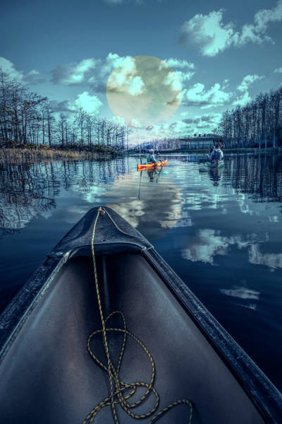 Photograph - Night Blues Reflections  by Debra and Dave Vanderlaan