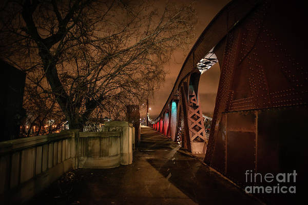 Haunted Wall Art - Photograph - Night Bridge by Bruno Passigatti