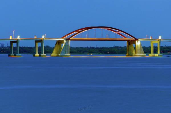 Photograph - Night Bridge by Erich Grant