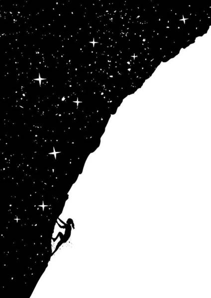 Surreal Mixed Media - Night Climbing by Balazs Solti