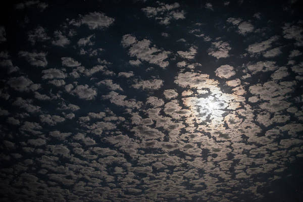 Photograph - Night Clouds And Moon by Robert Potts
