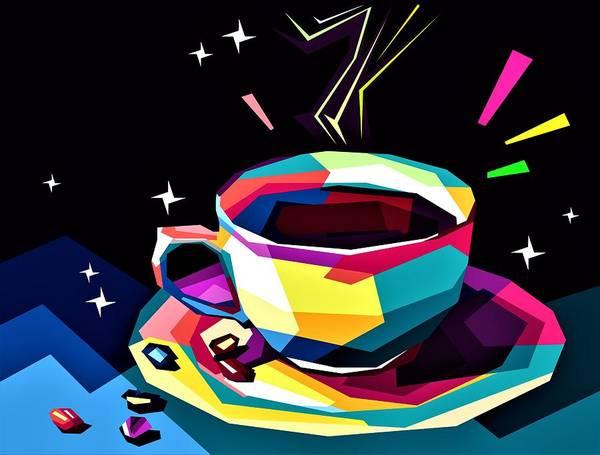 Wall Art - Digital Art - Night Coffee by ArtMarketJapan