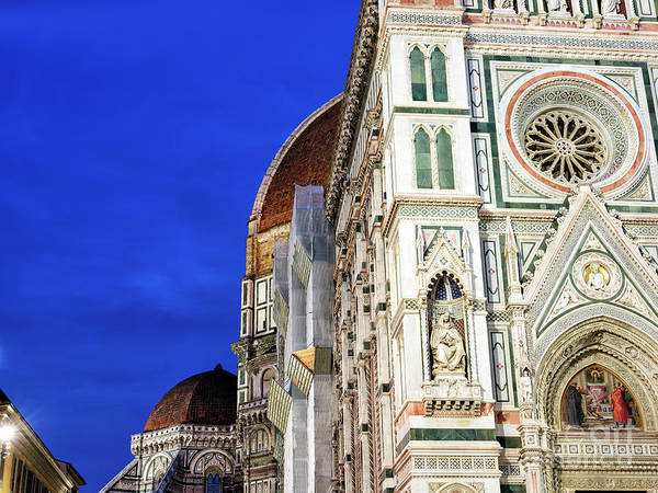 Photograph - Night Colors At The Duomo Di Firenze by John Rizzuto