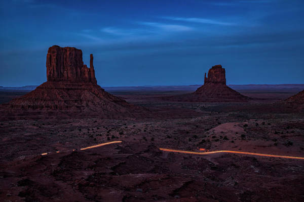 Wall Art - Photograph - Night Driving In Monument Valley by Andrew Soundarajan
