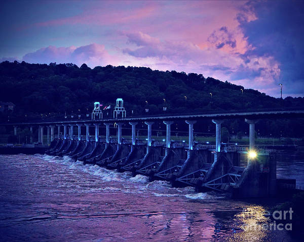 Wall Art - Photograph - Night Falls On The Bridge by Karen Beasley
