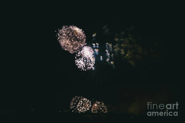 Photograph - Night Fireworks Over The City by Joaquin Corbalan