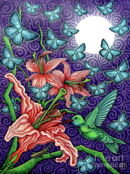 Painting - Night Garden 5 by Amy E Fraser