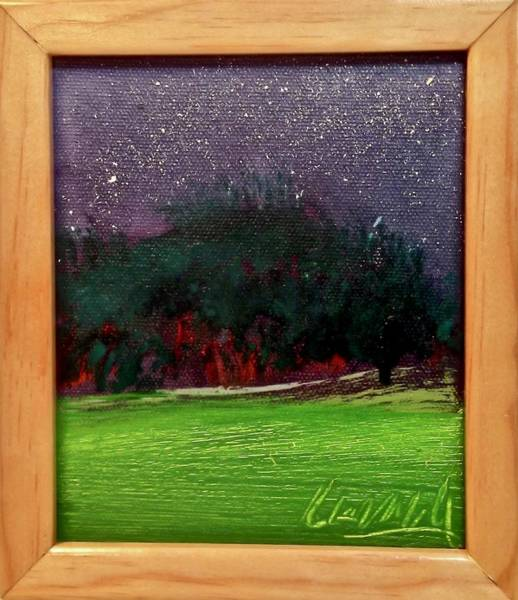 Painting - Night Grove by Les Leffingwell
