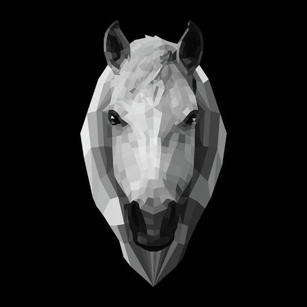 Wall Art - Digital Art - Night Horse by Naxart Studio