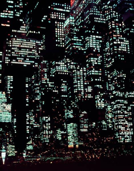 Photograph - Night Image Of Manhattan by Kim Steele