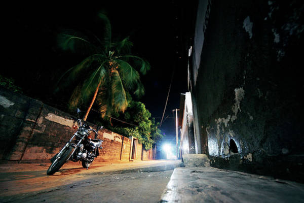 Residential Area Photograph - Night In African Town by Peeterv