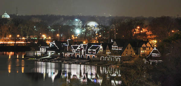 Photograph - Night In Philly  - Boathouse Row by Bill Cannon