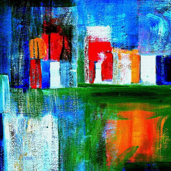 Painting - Night In The City N Y C by VIVA Anderson