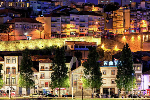 Photograph - Night Lights On Avenue Diogo Pinto In Porto by John Rizzuto