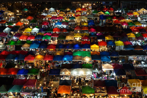Night Life Photograph - Night Market At Ratchada Rd. In by Kay motec