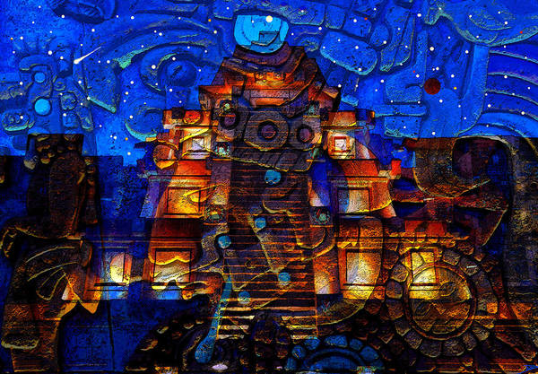 Wall Art - Painting - Night Of The Aztec  by David Lee Thompson