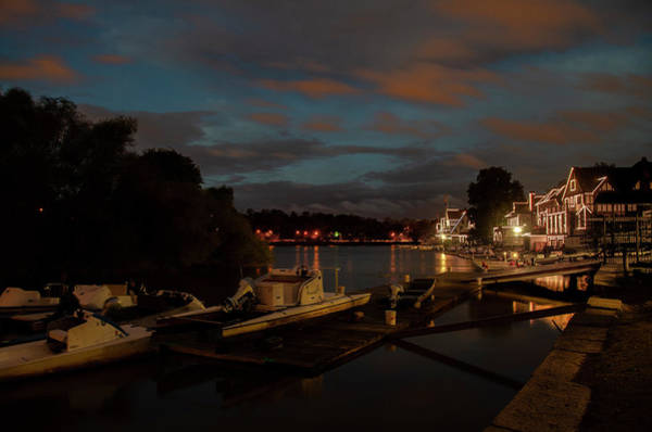 Photograph - Night On Boathouse Row - October by Bill Cannon