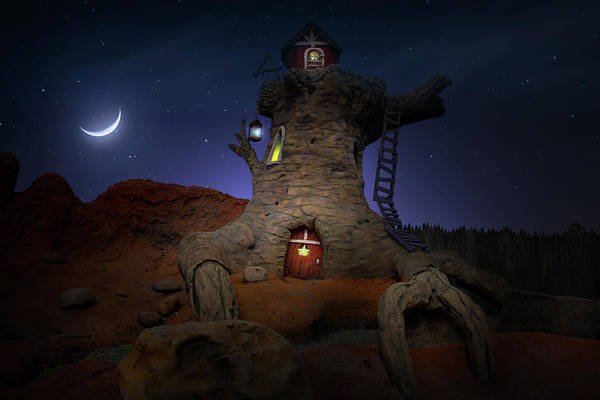 Wall Art - Photograph - Night On Splash Mountain by Mark Andrew Thomas