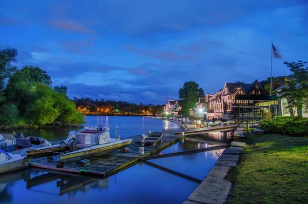 Photograph - Night On The Lagoon - Boathouse Row - Philadelphia by Bill Cannon
