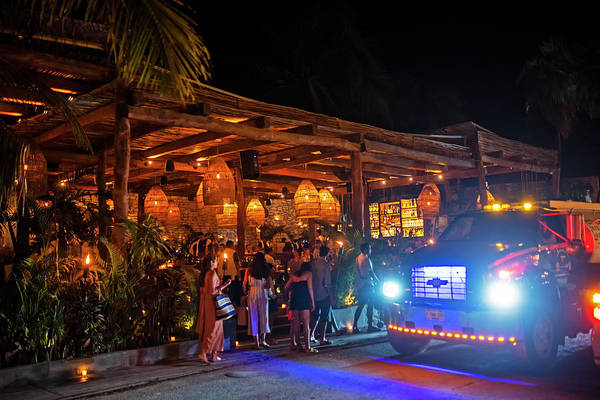 Photograph - Night Out In Tulum Mexico Nightlife by Toby McGuire