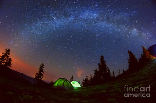 Wall Art - Photograph - Night Photo Of The Sky And The Milky by Ann Stryzhekin