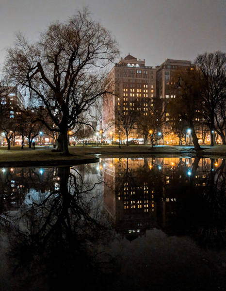 Photograph - Night Reflection by Christopher Brown