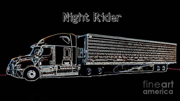 Photograph - Night Rider by Carol Groenen