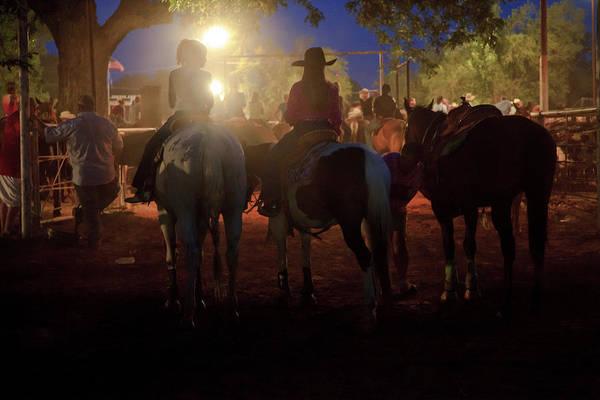 Wall Art - Photograph - Night Rodeo  by Toni Hopper