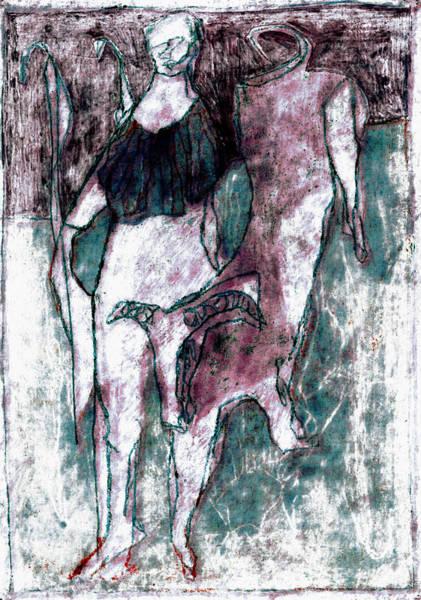 Painting - Night Shepherd by Artist Dot