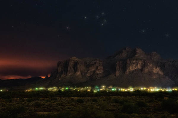 Wall Art - Photograph - Night Skies Over The Superstitions by Saija Lehtonen