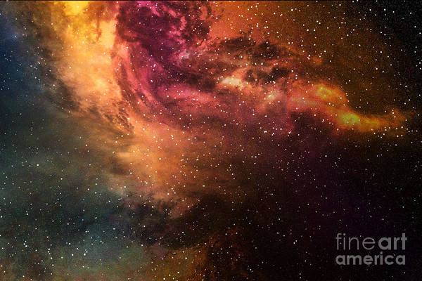 Wall Art - Digital Art - Night Sky With Stars And Nebula by Sumroeng Chinnapan
