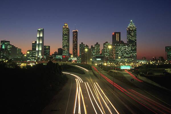 Georgia Photograph - Night Skyline, Atlanta, Georgia by Kevin Leigh
