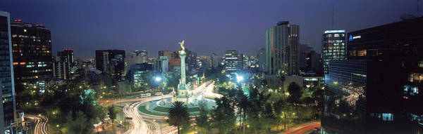 Mexico Photograph - Night Skyline Of Mexico City, Mexico by Peter Adams