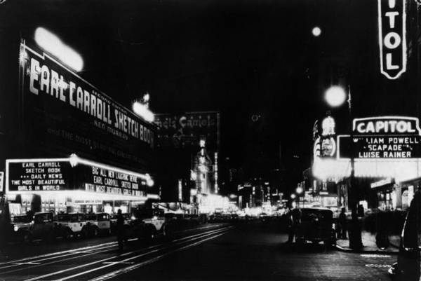 Lighting Equipment Photograph - Night Time New York by General Photographic Agency