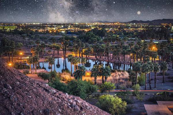 Photograph - Night Time Over Phoenix by Ants Drone Photography