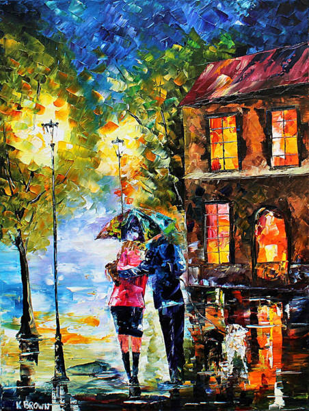 Painting - Night Time Walk by Kevin Brown