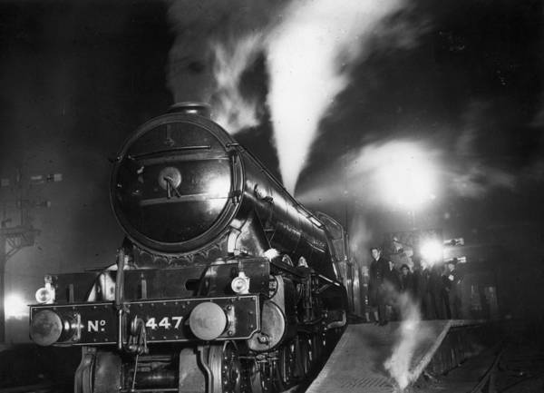 Photograph - Night Train by Topical Press Agency