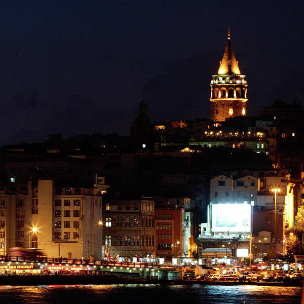 Parking Structure Photograph - Night View Across Galata Bridge by Wu Swee Ong