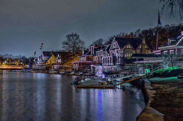 Photograph - Night View - Boathouse Row - Philadelphia by Bill Cannon