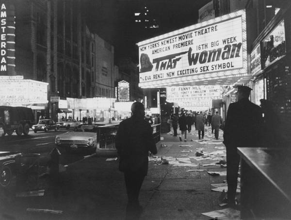 Archival Paper Photograph - Night View Of Broadway In New York by Keystone-france