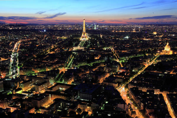 Invalides Photograph - Night View Of City Of Paris by Bruce Yuanyue Bi