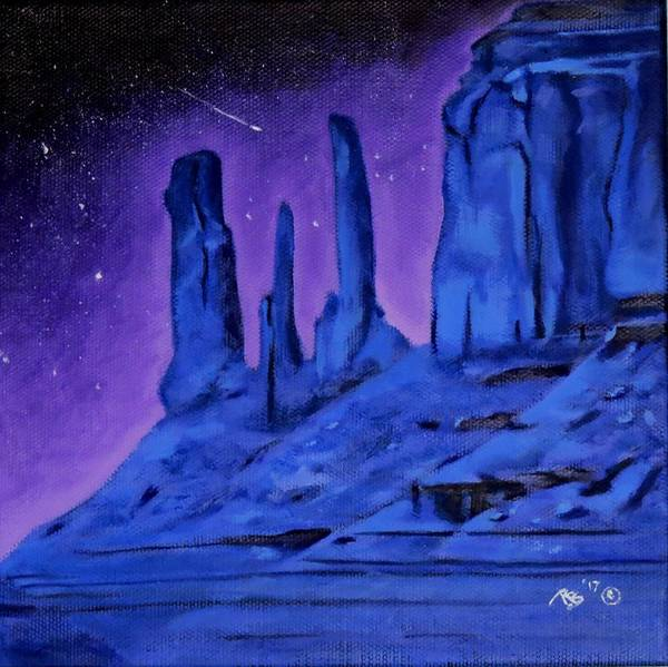 Star Formation Painting - Night Visions by Rachel Beck
